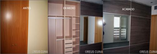 Casa residencial familiar armario 2 puertas correderas for Revestimiento de armarios empotrados